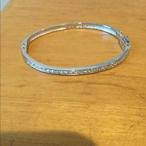 Swarovski silver with crystal bracelet